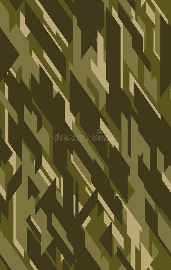 Αφηρημένο διανυσματικό στρατιωτικό υπόβαθρο κάλυψης για τον ιματισμό στρατού ελεύθερη απεικόνιση δικαιώματος