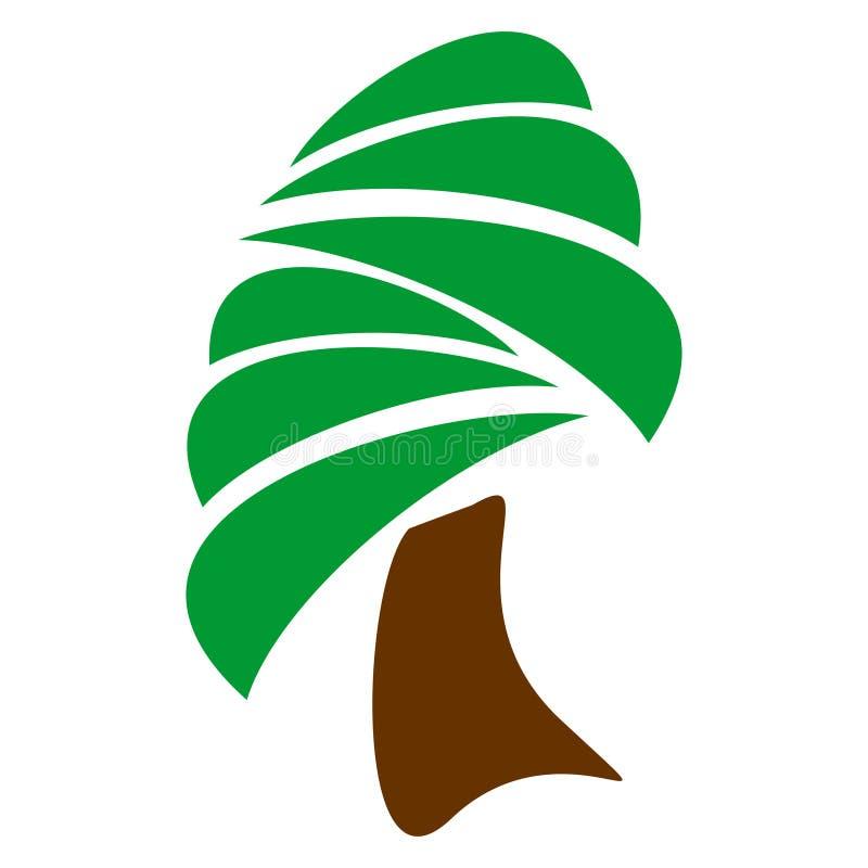 Αφηρημένο διανυσματικό σχέδιο λογότυπων για τα δέντρα, φύση, κήποι επίσης corel σύρετε το διάνυσμα απεικόνισης ελεύθερη απεικόνιση δικαιώματος