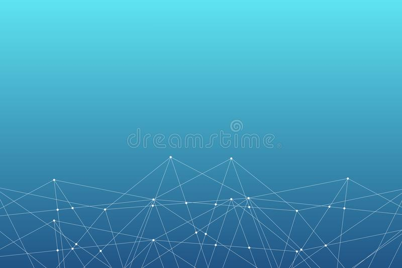Αφηρημένο διανυσματικό σχέδιο σύνδεσης τριγώνων Γεωμετρικό υπόβαθρο δικτύων μοριακή δομή Επιστημονικό illustrati Infographic ελεύθερη απεικόνιση δικαιώματος