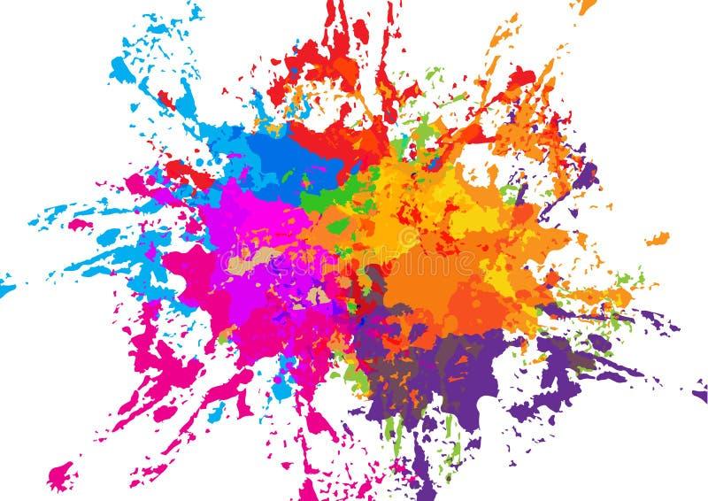 αφηρημένο διανυσματικό σχέδιο υποβάθρου splatter ζωηρόχρωμο Illustratio διανυσματική απεικόνιση