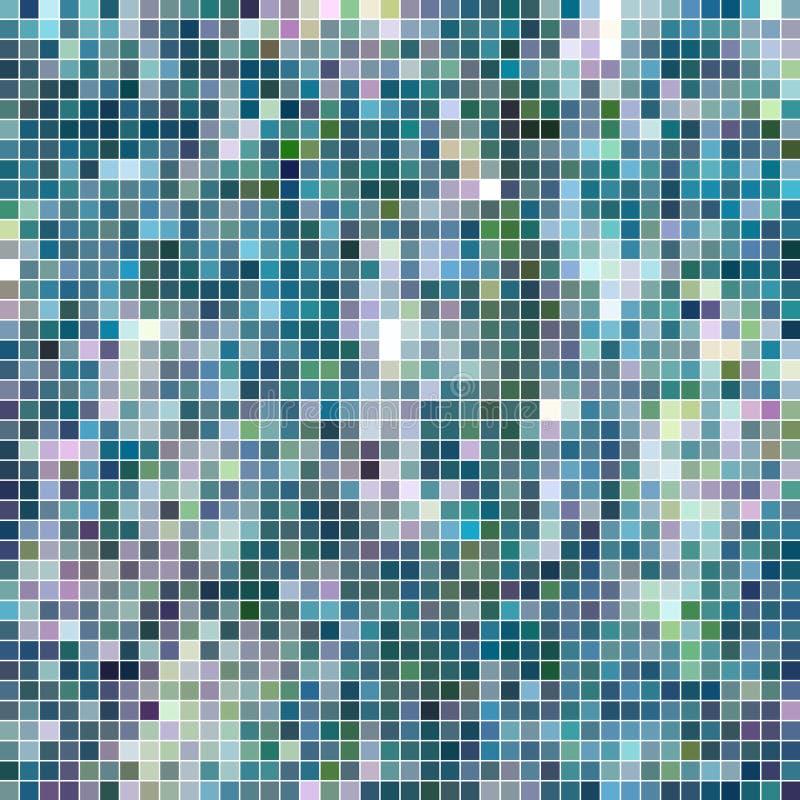 Αφηρημένο διανυσματικό τετραγωνικό υπόβαθρο μωσαϊκών εικονοκυττάρου ελεύθερη απεικόνιση δικαιώματος