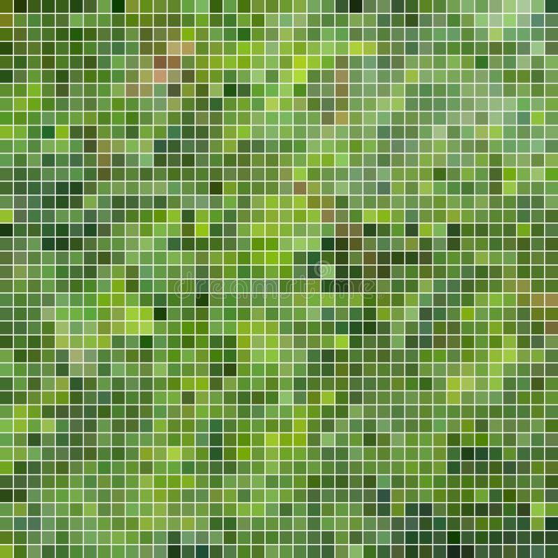 Αφηρημένο διανυσματικό τετραγωνικό υπόβαθρο μωσαϊκών εικονοκυττάρου απεικόνιση αποθεμάτων
