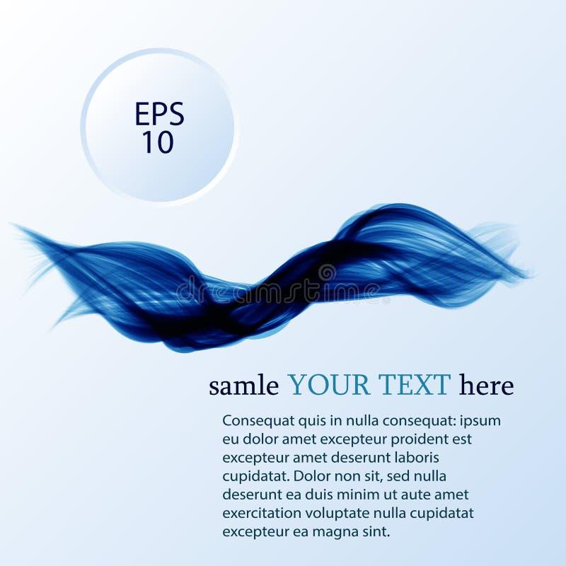 Αφηρημένο διανυσματικό υπόβαθρο, διαφανείς κυματισμένες γραμμές για το φυλλάδιο, ιστοχώρος, σχέδιο ιπτάμενων στοκ φωτογραφία