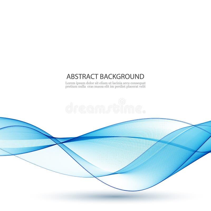 Αφηρημένο διανυσματικό υπόβαθρο, μπλε κυματισμένες γραμμές για το φυλλάδιο, ιστοχώρος, σχέδιο ιπτάμενων ελεύθερη απεικόνιση δικαιώματος