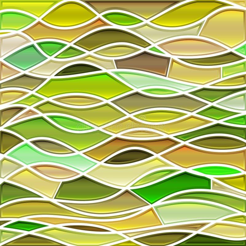 Αφηρημένο διανυσματικό stained-glass υπόβαθρο μωσαϊκών ελεύθερη απεικόνιση δικαιώματος