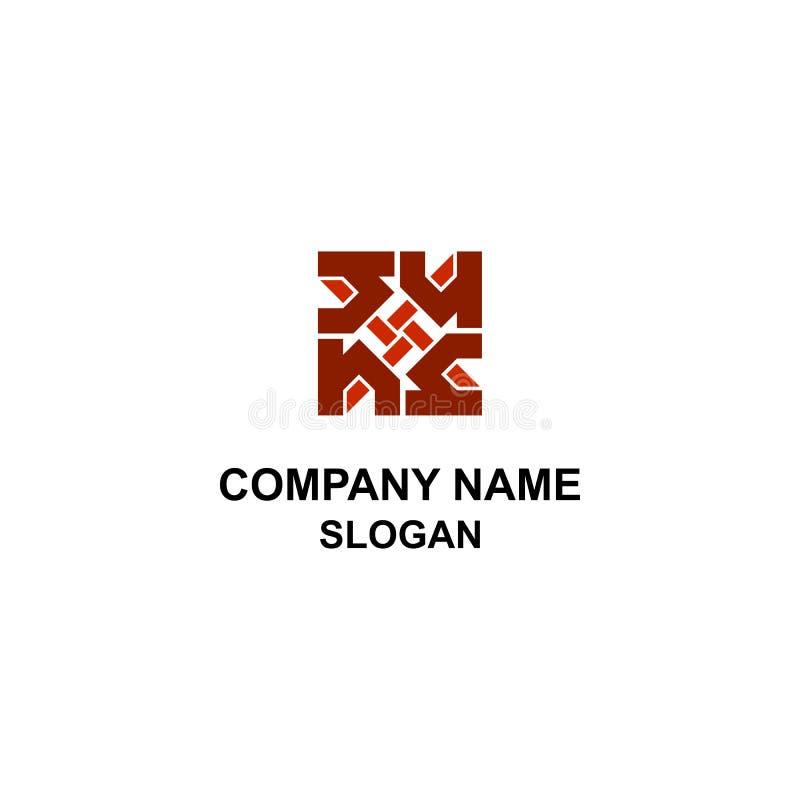 Αφηρημένο εγχώριο λογότυπο με την επιστολή Χ απεικόνιση αποθεμάτων