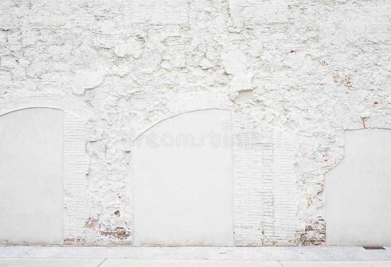Αφηρημένο εκλεκτής ποιότητας κενό υπόβαθρο Φωτογραφία της βρώμικης άσπρης χρωματισμένης σύστασης τουβλότοιχος Άσπρη πλυμένη brick στοκ εικόνα