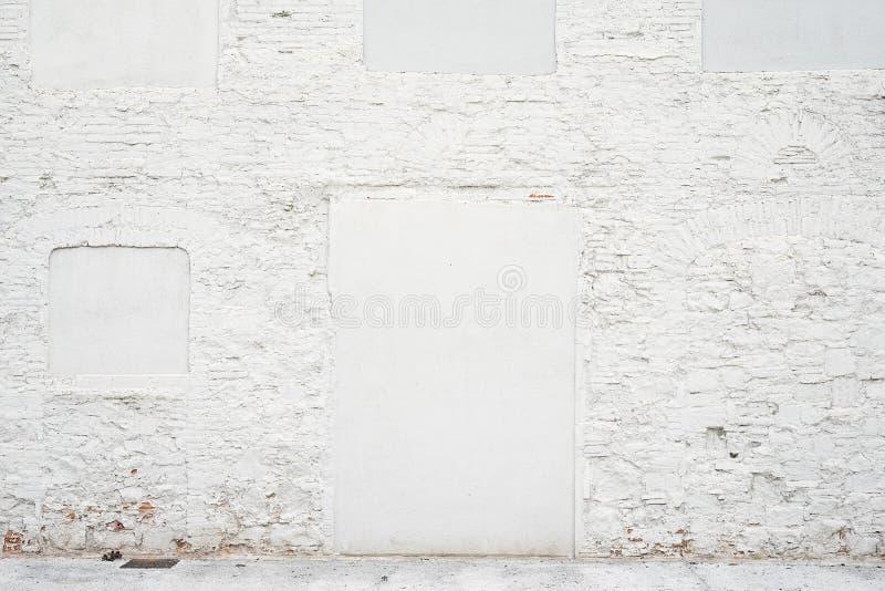 Αφηρημένο εκλεκτής ποιότητας κενό υπόβαθρο Φωτογραφία της παλαιάς άσπρης χρωματισμένης σύστασης τουβλότοιχος Άσπρη πλυμένη brickw στοκ φωτογραφίες με δικαίωμα ελεύθερης χρήσης