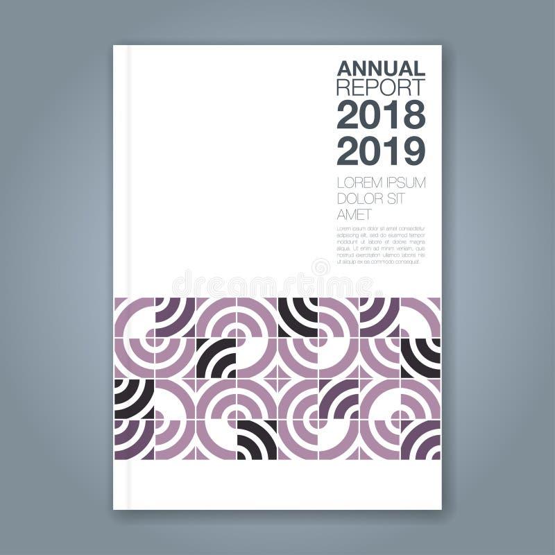 Αφηρημένο ελάχιστο γεωμετρικό υπόβαθρο κύκλων για την αφίσα ιπτάμενων φυλλάδιων κάλυψης βιβλίων επιχειρησιακών ετήσια εκθέσεων ελεύθερη απεικόνιση δικαιώματος