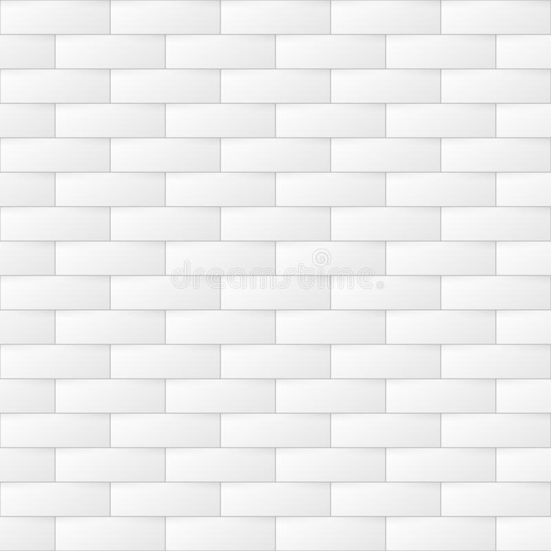 Αφηρημένο ελαφρύ γεωμετρικό υπόβαθρο Άνευ ραφής άσπρη και γκρίζα σύσταση τούβλου Καθιερώνον τη μόδα τρισδιάστατο επαναλαμβανόμενο ελεύθερη απεικόνιση δικαιώματος