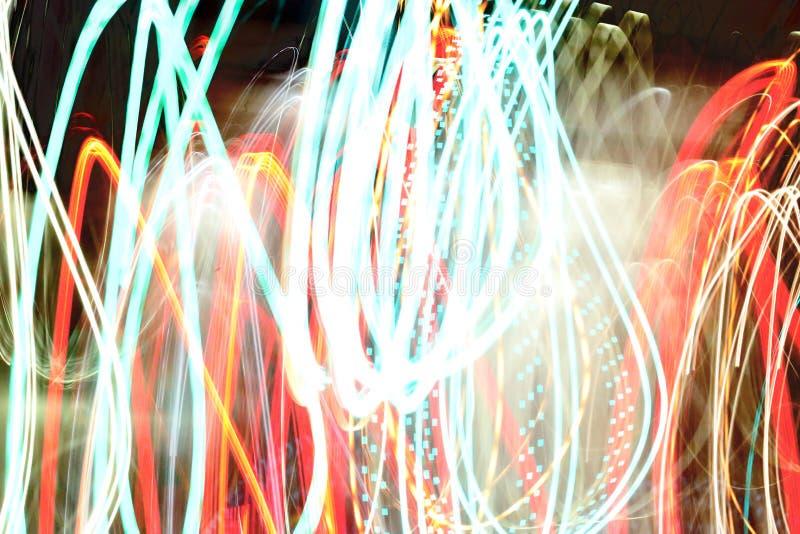 Αφηρημένο ελαφρύ υπόβαθρο σε κίνηση στοκ φωτογραφία με δικαίωμα ελεύθερης χρήσης