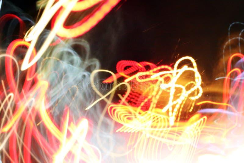 Αφηρημένο ελαφρύ υπόβαθρο σε κίνηση στοκ φωτογραφίες με δικαίωμα ελεύθερης χρήσης