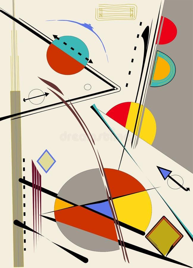 Αφηρημένο ελαφρύ υπόβαθρο, expressionism αρθ. ύφος-18-152 διανυσματική απεικόνιση