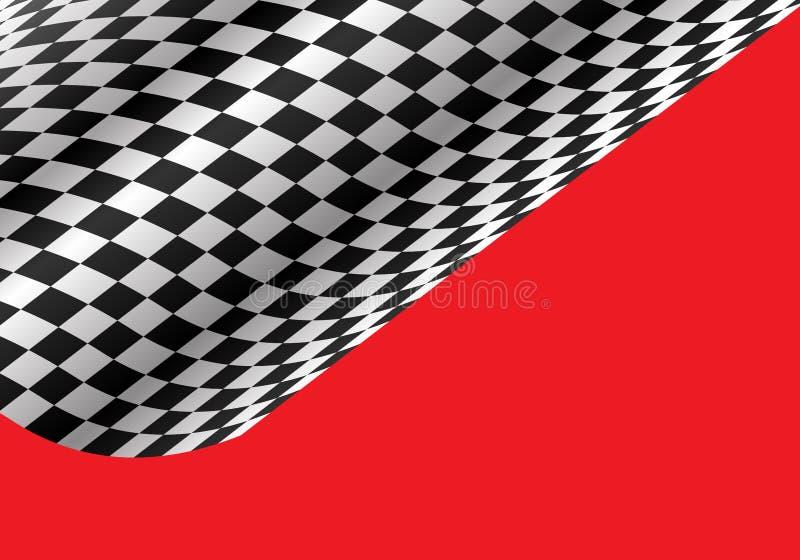 Αφηρημένο ελεγμένο κύμα που πετά στο κόκκινο για το διάνυσμα υποβάθρου πρωταθλήματος αθλητικών φυλών διανυσματική απεικόνιση