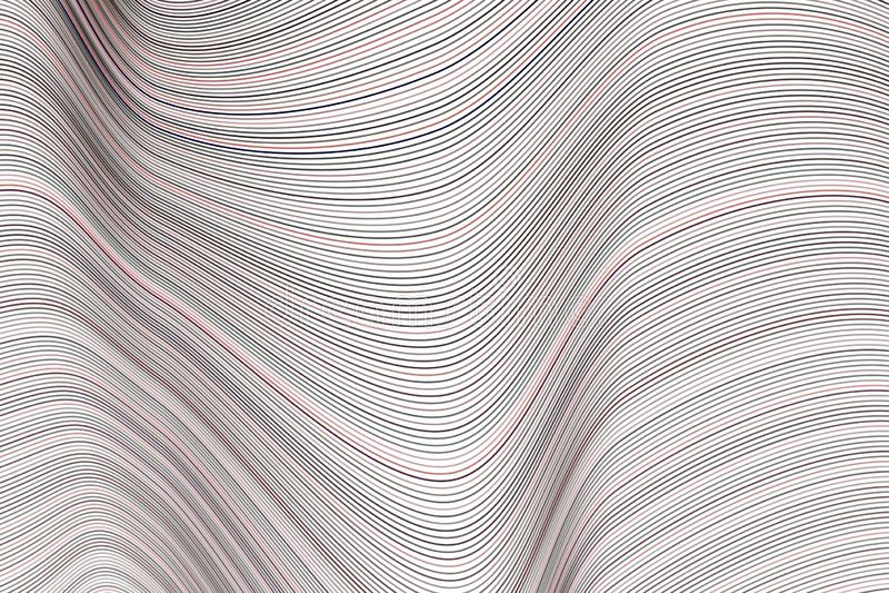 Αφηρημένο εννοιολογικό γεωμετρικό σχέδιο γραμμών, καμπυλών & κυμάτων Επίδραση, καμβάς, μορφή & δημιουργικός απεικόνιση αποθεμάτων