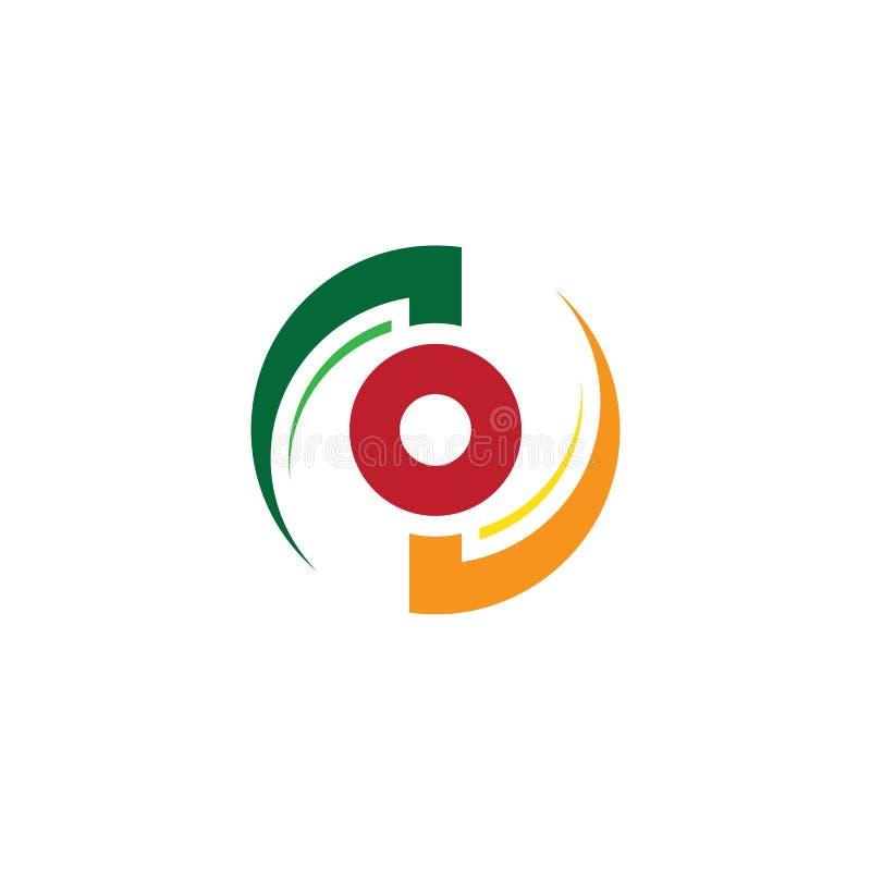 Αφηρημένο επιχειρησιακό λογότυπο στροβίλου κύκλων διανυσματική απεικόνιση
