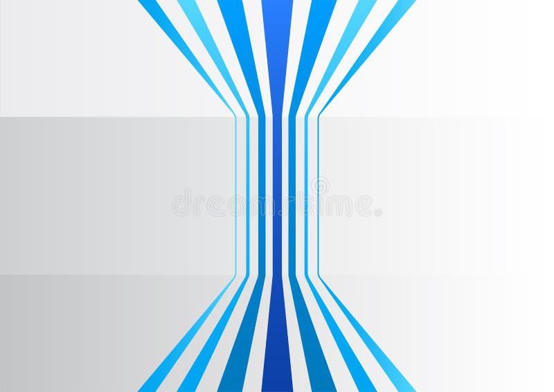 Αφηρημένο επιχειρησιακό υπόβαθρο με τις μπλε κάθετες γραμμές σε ένα γκρίζο γραφείο ελεύθερη απεικόνιση δικαιώματος