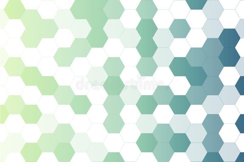 Αφηρημένο ελαφρύ και μπλε hexagon υπόβαθρο σχεδίων ελεύθερη απεικόνιση δικαιώματος