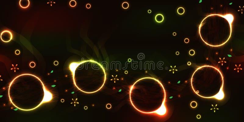 Αφηρημένο ζωηρόχρωμο έμβλημα φλυτζανιών ελεύθερη απεικόνιση δικαιώματος