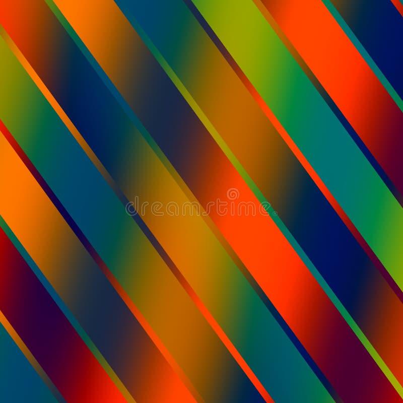 Αφηρημένο ζωηρόχρωμο λαμπρό υπόβαθρο λουρίδων - κόκκινο διανυσματική απεικόνιση