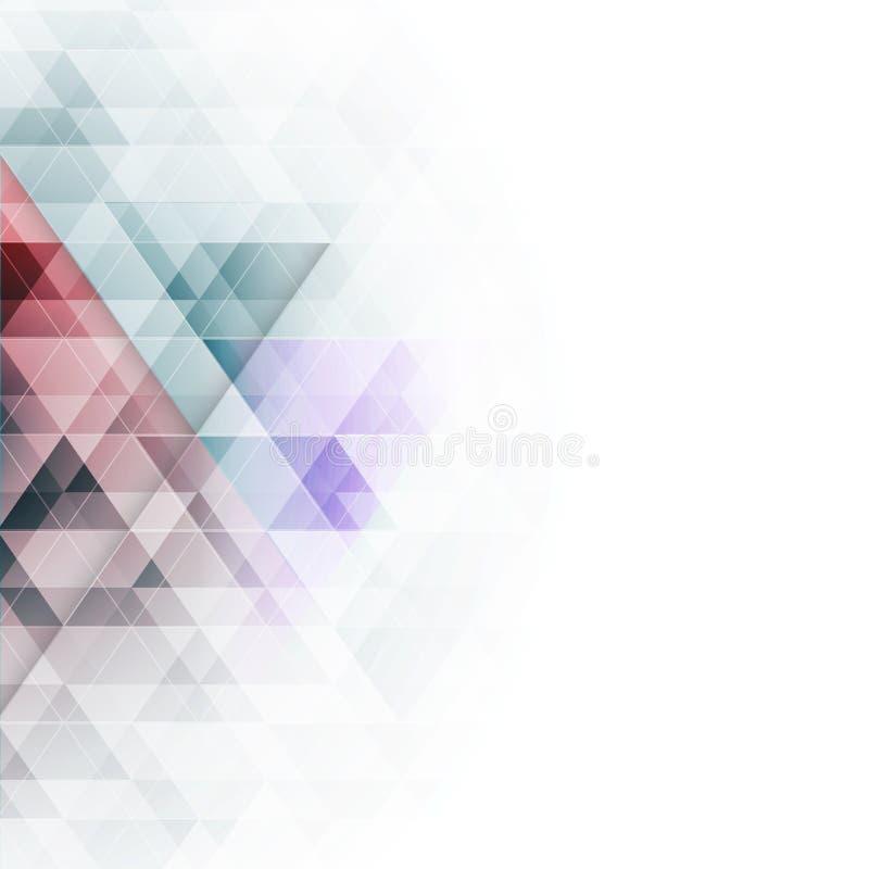 Αφηρημένο ζωηρόχρωμο γεωμετρικό υπόβαθρο τριγώνων επίσης corel σύρετε το διάνυσμα απεικόνισης απεικόνιση αποθεμάτων