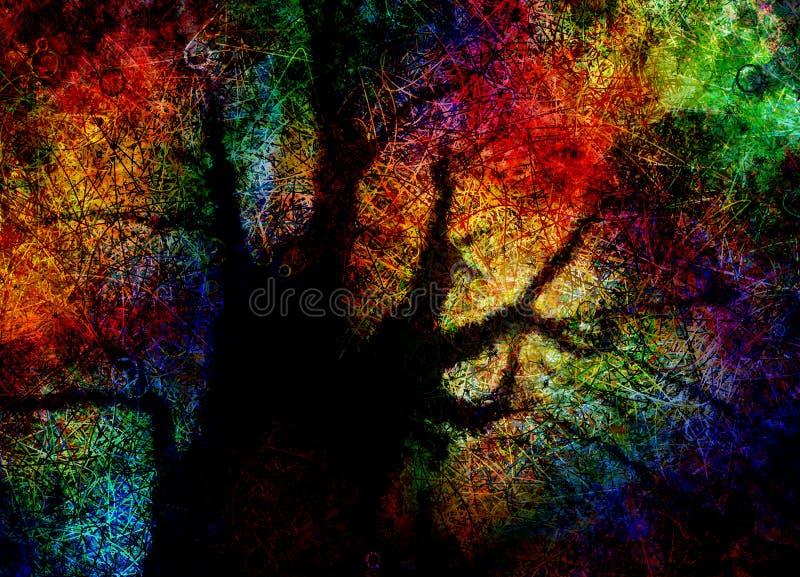 αφηρημένο ζωηρόχρωμο διάνυσμα δέντρων απεικόνισης απεικόνιση αποθεμάτων