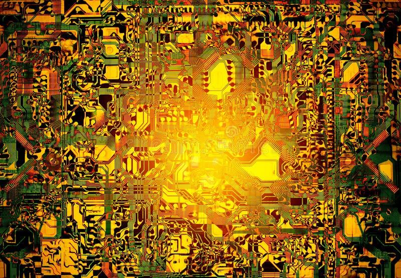 Αφηρημένο ζωηρόχρωμο ηλεκτρονικό κύκλωμα grunge για το υπόβαθρο στοκ εικόνες