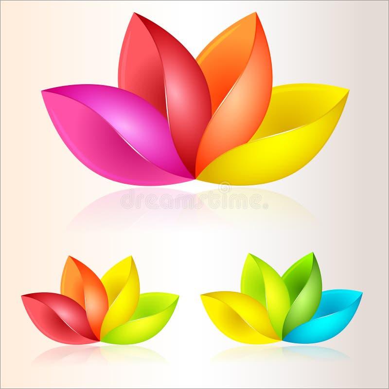 αφηρημένο ζωηρόχρωμο διάνυσμα απεικόνισης λουλουδιών διανυσματική απεικόνιση