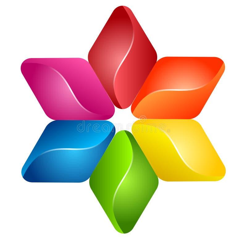 αφηρημένο ζωηρόχρωμο λογότυπο απεικόνισης σχεδίου γραφικό ελεύθερη απεικόνιση δικαιώματος