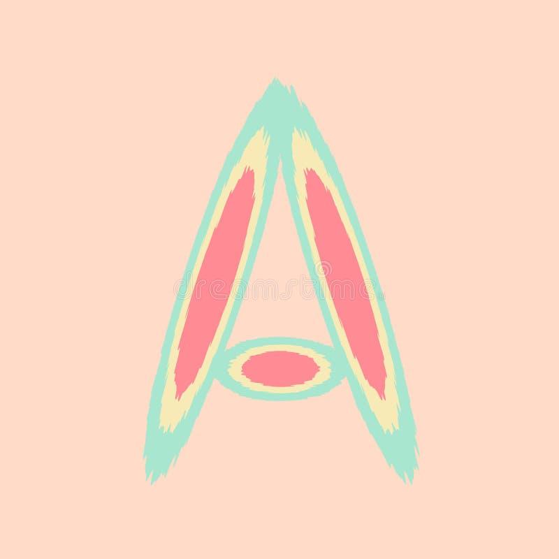 Ένα λογότυπο επιστολών αλφάβητου Αφηρημένο ζωηρόχρωμο πρότυπο σχεδίου logotype διανυσματικό διανυσματική απεικόνιση