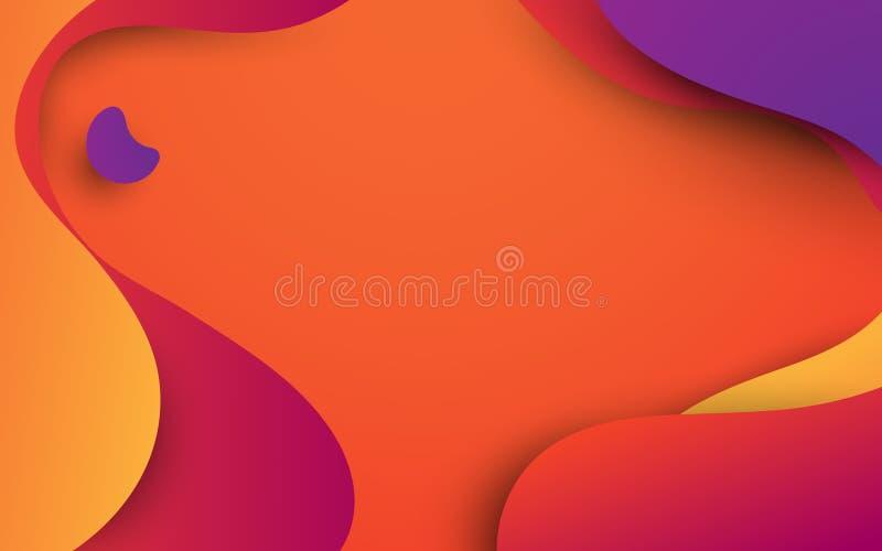Αφηρημένο ζωηρόχρωμο ρευστό υπόβαθρο μορφών Θερινό θέμα μπορέστε να χρησιμοποιηθείτε για την ταπετσαρία, πρότυπο, αφίσα, σκηνικό, διανυσματική απεικόνιση