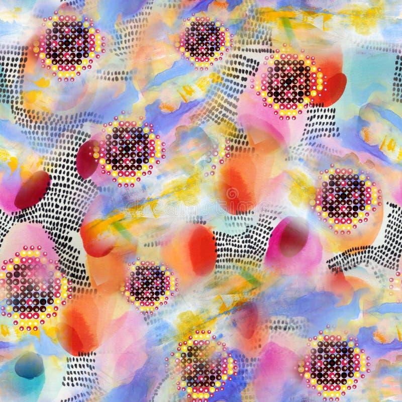 Αφηρημένο ζωηρόχρωμο σχέδιο τυπωμένων υλών φραγμών διανυσματική απεικόνιση