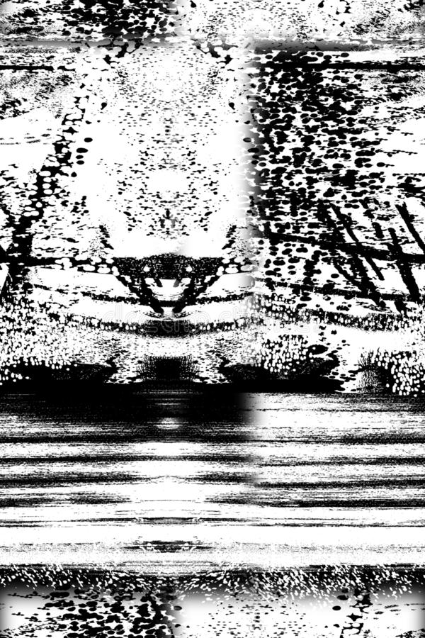 Αφηρημένο ζωηρόχρωμο σχέδιο τυπωμένων υλών φραγμών ελεύθερη απεικόνιση δικαιώματος