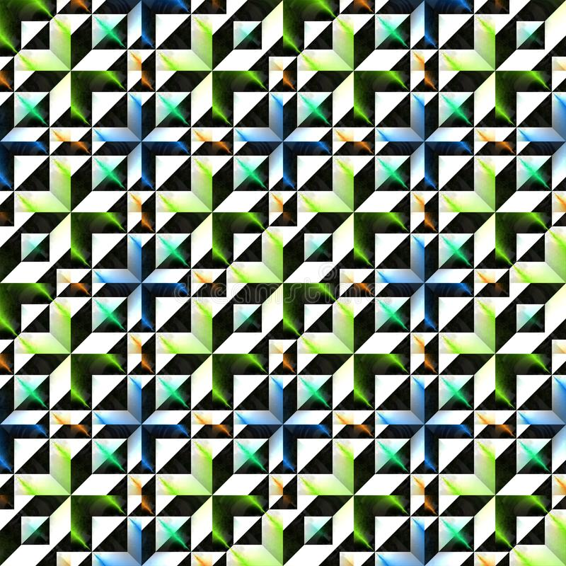 Αφηρημένο ζωηρόχρωμο τρισδιάστατο σχέδιο Μεταλλική περίκομψη επιφάνεια Υπόβαθρο σύστασης ανακούφισης σχοινί απεικόνισης άνευ ρ&a διανυσματική απεικόνιση