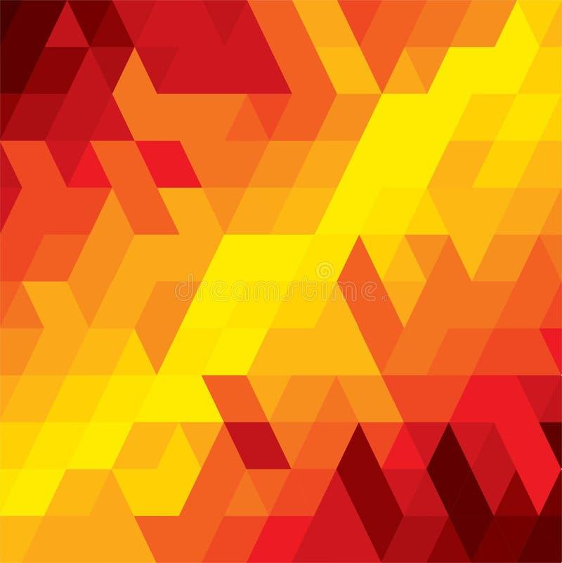 Αφηρημένο ζωηρόχρωμο υπόβαθρο του διαμαντιού, του κύβου & των τετραγωνικών μορφών διανυσματική απεικόνιση