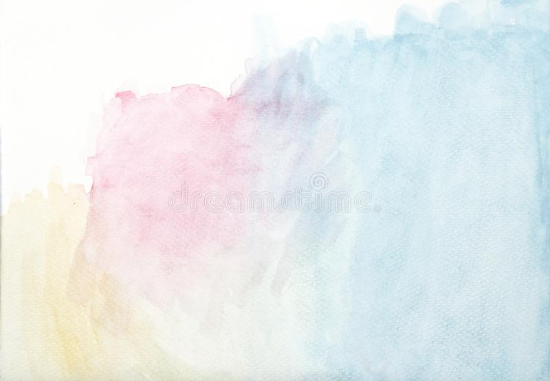 Αφηρημένο ζωηρόχρωμο υπόβαθρο watercolor, αφηρημένη συρμένη χέρι απεικόνι ελεύθερη απεικόνιση δικαιώματος