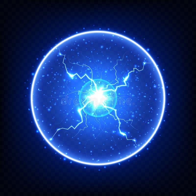 Αφηρημένο ηλεκτρικό στοιχείο, καμμένος αστραπή σφαιρών ελεύθερη απεικόνιση δικαιώματος