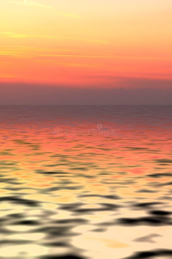 αφηρημένο ηλιοβασίλεμα ανασκόπησης στοκ εικόνες