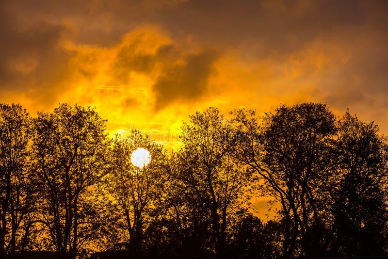 Αφηρημένο ηλιοβασίλεμα σε ένα θερινό βράδυ Adler, Sochi, Ρωσία στοκ φωτογραφίες