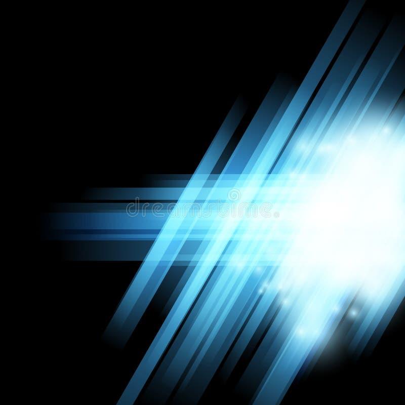 Αφηρημένο ημίτονο μπλε ελαφρύ υπόβαθρο ελεύθερη απεικόνιση δικαιώματος