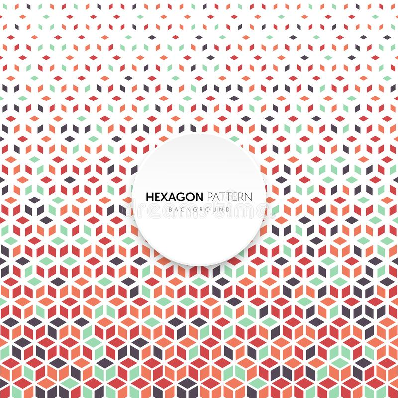Αφηρημένο ημίτονο hexagon γεωμετρικό εκλεκτής ποιότητας αναδρομικό ύφος υποβάθρου σχεδίων μορφής διανυσματική απεικόνιση