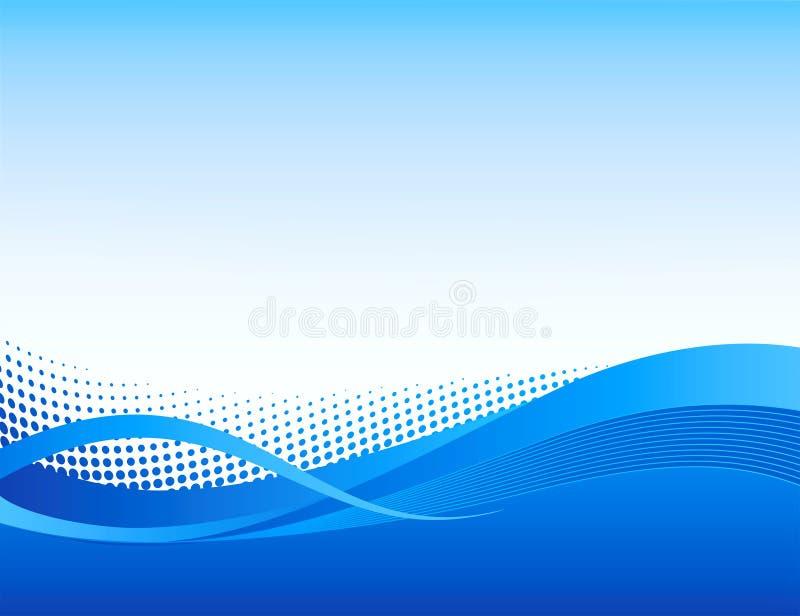 αφηρημένο ημίτονο swoosh ανασκόπησης διανυσματική απεικόνιση