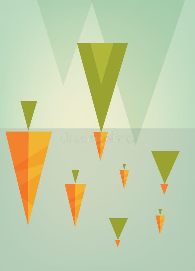 Αφηρημένο δημιουργικό σύνολο υποβάθρου έννοιας διανυσματικό πολύχρωμο, για το σχέδιο φυλλάδιων ελεύθερη απεικόνιση δικαιώματος