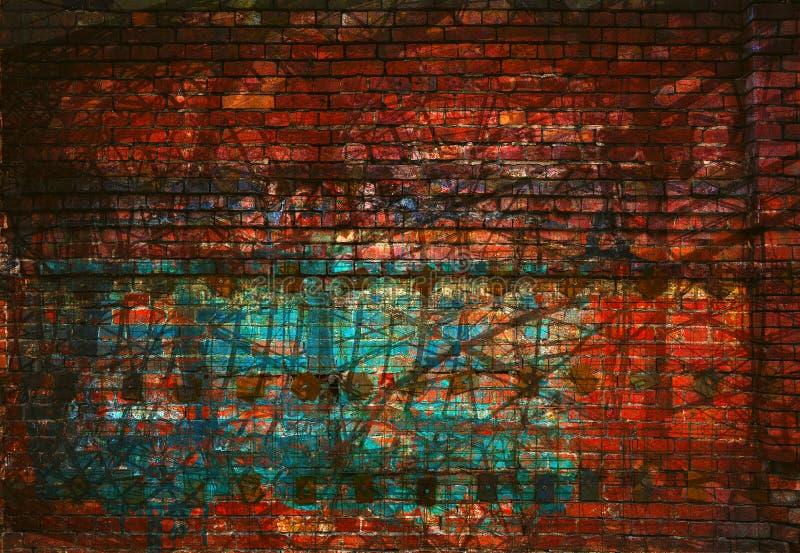 Αφηρημένο δημιουργικό υπόβαθρο - γραμμές, φως και χρώμα Κόκκινο και πράσινος στοκ φωτογραφίες
