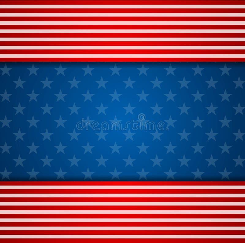 Αφηρημένο ΗΠΑ υπόβαθρο χρωμάτων σημαιών Προέδρων Day ελεύθερη απεικόνιση δικαιώματος