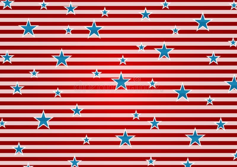 Αφηρημένο ΗΠΑ υπόβαθρο χρωμάτων σημαιών Προέδρων Day διανυσματική απεικόνιση