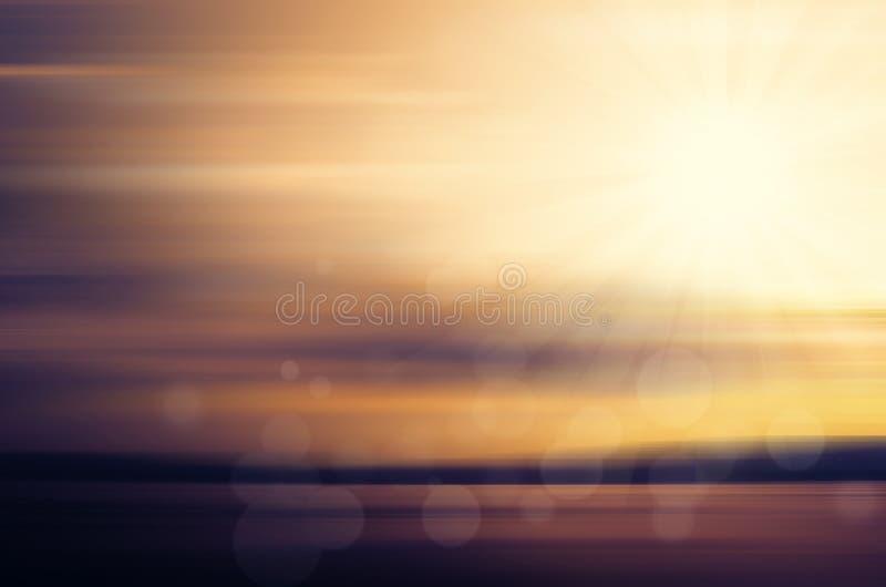 Αφηρημένο ηλιοβασίλεμα πέρα από τον ωκεανό απεικόνιση αποθεμάτων