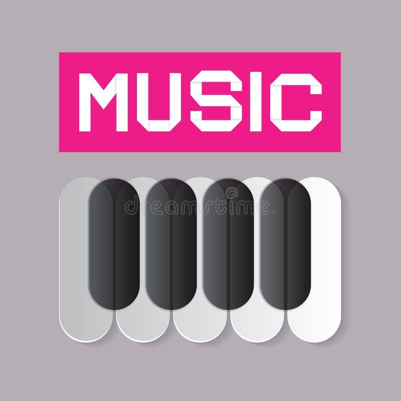 Αφηρημένο θέμα μουσικής απεικόνιση αποθεμάτων