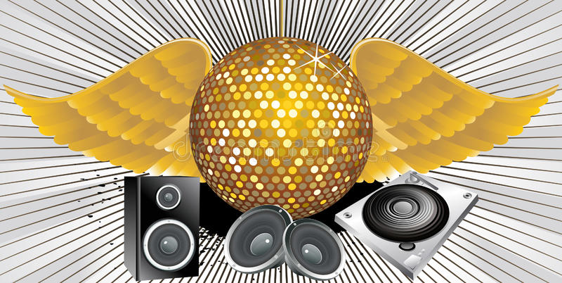 αφηρημένο θέμα μουσικής disco &sigma απεικόνιση αποθεμάτων