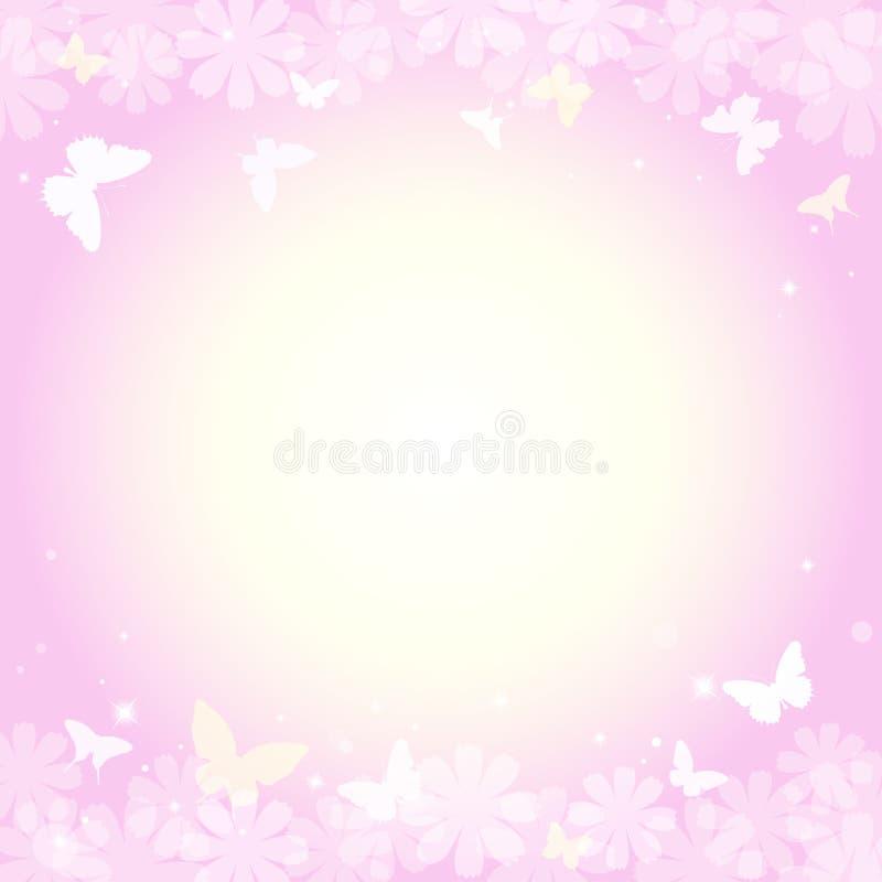 Αφηρημένο θερινό υπόβαθρο άνοιξης στο ανοικτό ροζ χρώμα κρητιδογραφι ελεύθερη απεικόνιση δικαιώματος